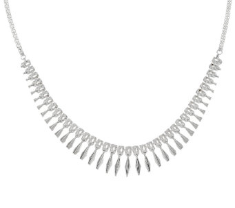 Sterling Silver Polished Cleopatra Necklace by Silver Style - J321417