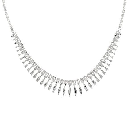 Sterling Silver Polished Cleopatra Necklace by Silver Style