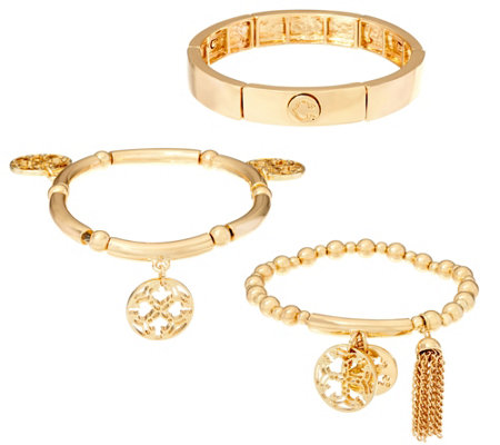 C. Wonder Set of 3 Stretch Charm Bracelets