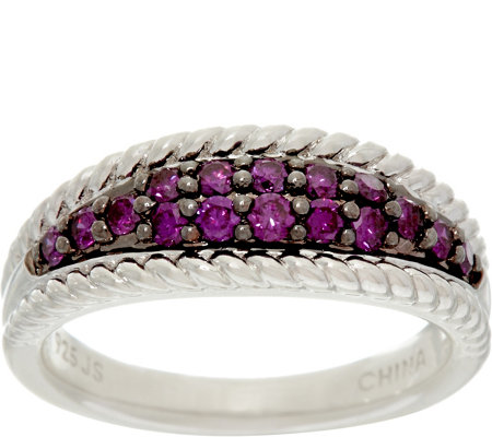 Purple Diamond Band Ring, Sterling, 1/2 cttw, by Affinity