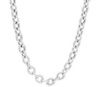 "Vicenza Silver Sterling 18"" Rolo Link Necklace 36.0g - J331017"