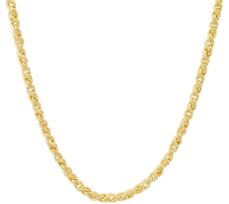 "Judith Ripka Verona 18"" 14K Clad Twisted Cable Necklace 33.0gr"