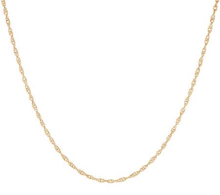 "EternaGold 20"" Diamond Cut Singapore Necklace 14K Gold, 1.8g"