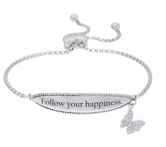 Hallmark Sterling Inspirational Adjustable Bracelet - J333417
