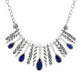 Carolyn Pollack Sterling Silver Reversible Gemstone Necklace - J334017