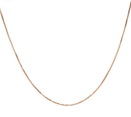 "18"" Fine Polished Box Chain, 14K Gold 1.8 gg"
