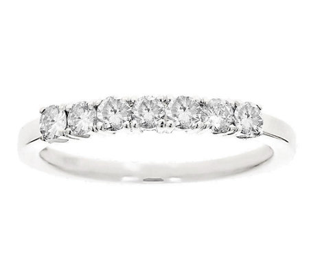 7-Stone Band Diamond Ring, 14K White Gold 1/2ctby Affinity