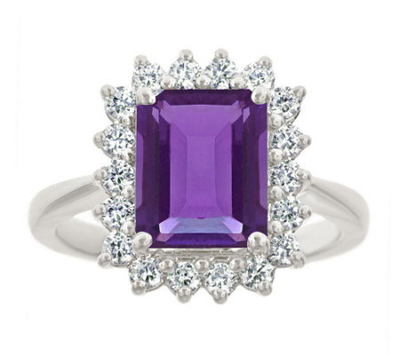 Premier 2.30cttw Emerald-Cut Amethyst Diamond Ring, 14K