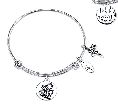 Sterling Expandable Family Bangle by Extraordinary Life