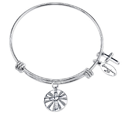Sterling Expandable Faith Charm Bangle by Extraordinary Life