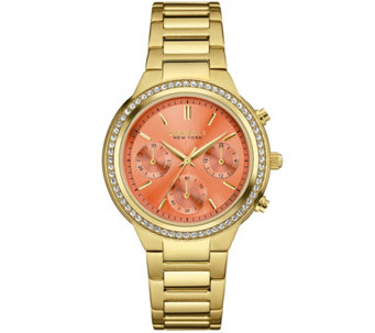 Caravelle New York Chronograph Colored Dial Women's Watch - J343117