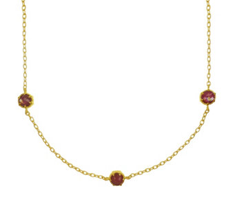 "Judith Ripka 14K Clad & Ruby Triplet & Diamonique 36"" Necklace - J344617"