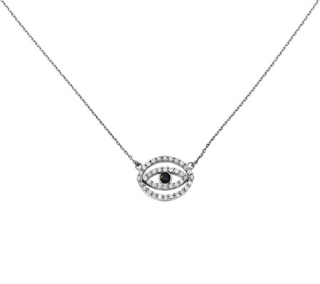 Dainty Designs 14K 3/8 cttw Diamond Evil-Eye Necklace
