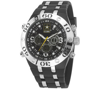 Wrist Armor U.S. Army C23 Multifunction Watch -Black & White - J345717