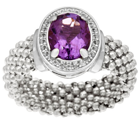 Italian Silver 1.55ct Amethyst Ring, Sterling
