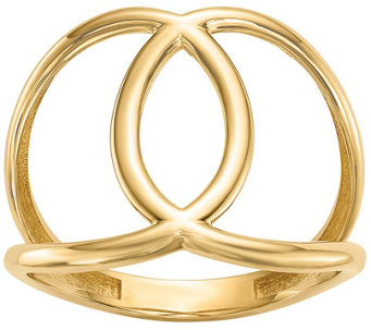 14K Gold Interlocking Circle Ring - J374817