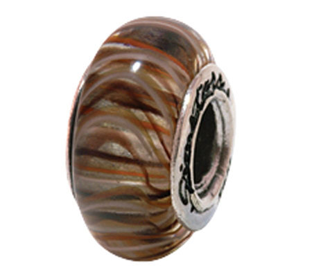 Prerogatives Sterling Brown Glass Bead
