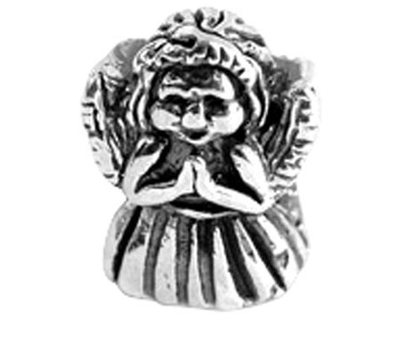 Prerogatives Sterling Silver Praying Angel Bead
