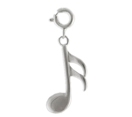 Sterling Musical Note Charm
