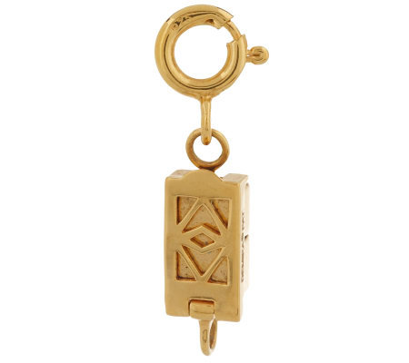 Click Secure Self-Locking Rectangle Magnetic Clasp 14K Yellow Gold