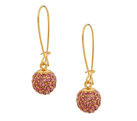 Joan Rivers Simple Chic Pave' Ball Drop Earrings