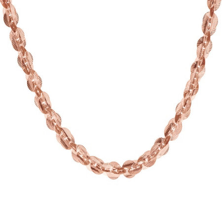 """As Is"" Bronzo Italia 18"" Diamond Cut Paillette Link Necklace"