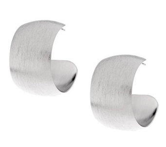 VicenzaSilver Sterling Satin Finish Bold Hoop Earrings - J277718