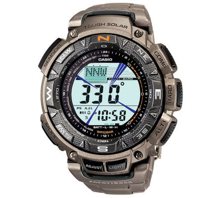 Casio Pathfinder Triple Sensor Watch w/ Titanium Band