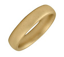 Simply Stacks Sterling 18K Yellow Gold-Plated 4.25mm SatinRing - J298118