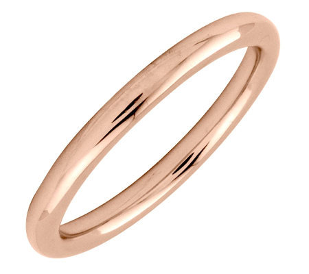 Simply Stacks Sterling 18K Rose Gold-Plated 2.25mm Polish Ring