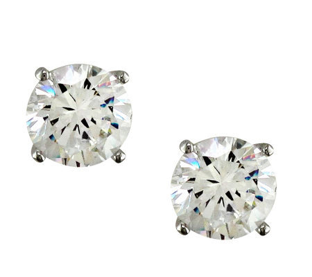 Diamonique 6.00 cttw Round Stud Earrings, Platinum Clad