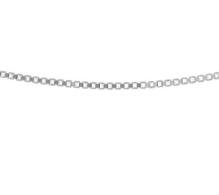 "Sterling 18"" Polished Solid Box Chain"