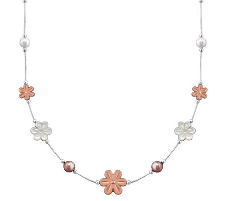 Carolyn Pollack Sterling Blushing Joy Necklace