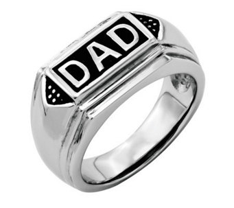 "Forza Men's Stainless Steel ""DAD"" Ring - J313818"