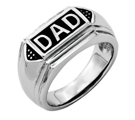 "Forza Men's Stainless Steel ""DAD"" Ring"