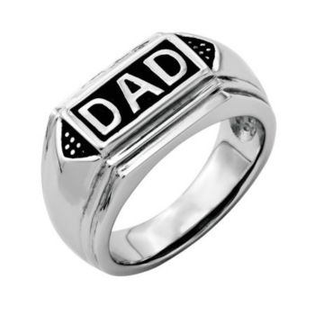 Forza Men's Stainless Steel DAD Ring