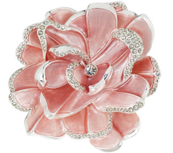Joan Rivers Limited Edition Pink Pave' Gardenia Pin - J317918