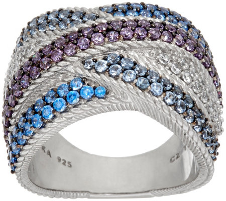 Judith Ripka Sterling 2.20 cttw Diamonique Ring