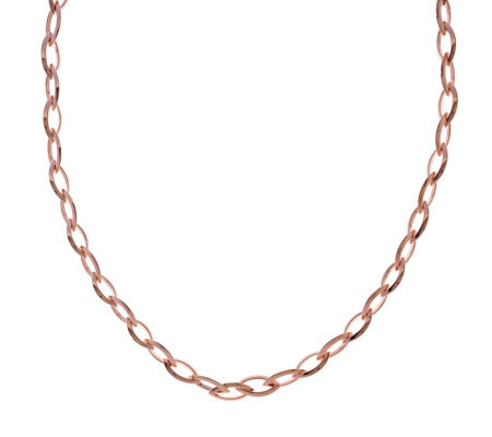 """As Is"" Bronzo Italia 36"" Polished Marquise Link Necklace"