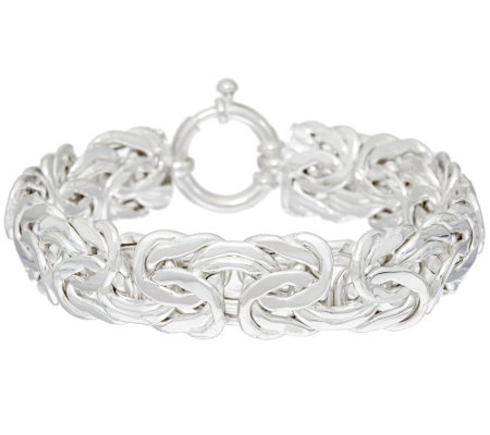 """As Is""Sterling 7-1/4""Byzantine Bracelet by Silver Style, 23.0g"