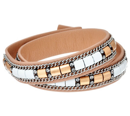 Stella & Dot Cady Wrap Leather Bracelet