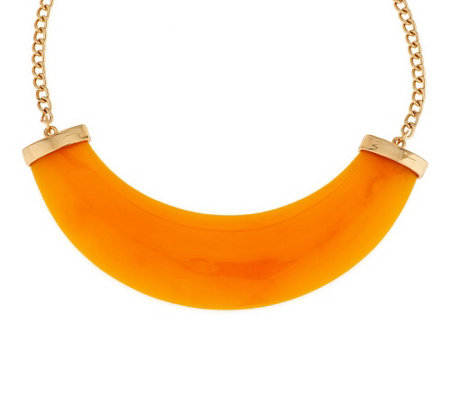"""As Is"" Kenneth Jay Lane's Modern Crescent Necklace"