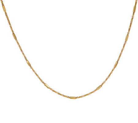 "Italian Gold 18"" Margherita Polished Bar Necklace 14K Gold 4.0g"