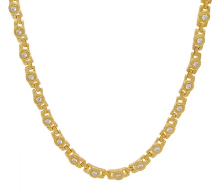 "Judith Ripka 14K Clad 18"" 4.50 cttw Diamonique Necklace"