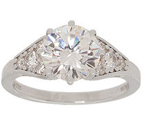 Diamonique Royal Collection 3.30 cttw Ring, Sterling - J356118