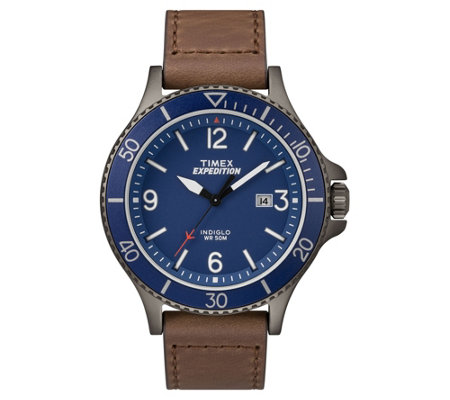 Timex Men's Expedition Ranger Brown Leather Strap Watch