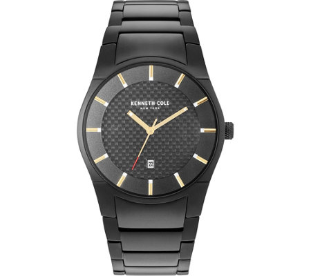 Kenneth Cole NY Men's Black Stainless BraceletWatch