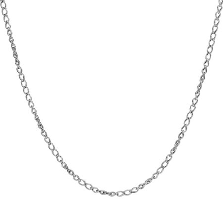 "Carolyn Pollack Sterling Silver 32""L Wheat Chain Necklace"