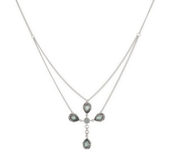 Anthony Nak Sterling 6.30 ct tw Lab-Created Cross Necklace - J144119