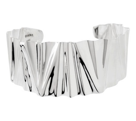 Dominique Dinouart Sterling Large Crinkle Cuff, 23.0g